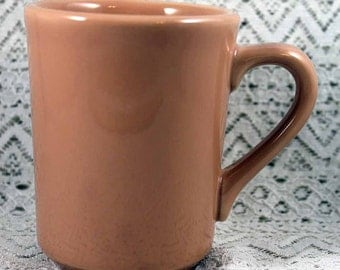 HLC Coffee Mug, HLC Denver Coffee Cup, Homer Laughlin Coffee Mug, Apricot Coffee Mug