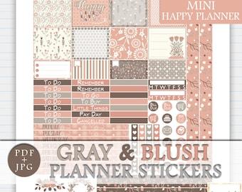MINI Happy Planner Printable Stickers, Floral Printable Planner Stickers, MINI Happy Planner Weekly Kit, February MINI Mambi Sticker Kit