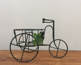 Vintage Bicycle Plant Stand Planter - Boho Jungalow Indoor Garden Home Decor
