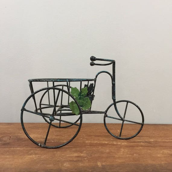 Vintage bicycle plant stand planter boho jungalow indoor - Bicycle planter stand ...