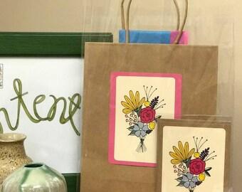 Flower Bouquet Gift Bag Kit