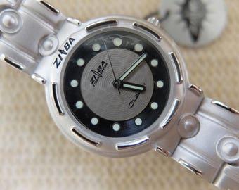 Zioba Design 1980s metal watch