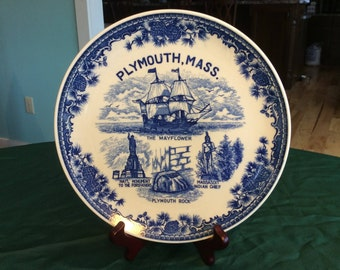 """Plymouth, Massachusetts Collector Plate 9 1/2"""""""