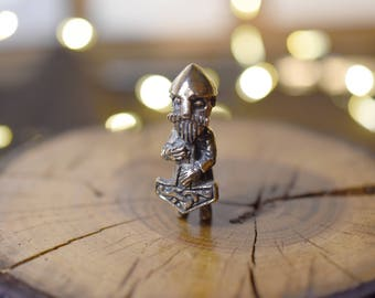 Thor bronze pendant - statuette inspiration- thor hammer