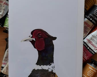 John Pheasant Art Card