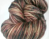 MOCHA MINT, Hand Dyed Sock Yarn, Speckle Yarn, Variegated Yarn, Indie Dyed Sock Yarn