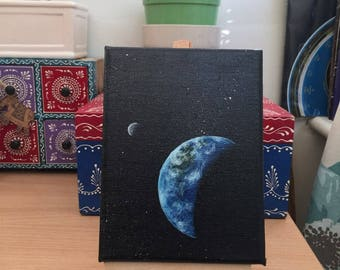Earth Rise| Original Acrylic Painting | 12X15