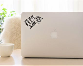 Decal {Game of Thrones sigil House Stark }-Laptop Decal/Laptop Sticker/Phone decal/Phone sticker/Car Sticker/Car Decal/Window Decal