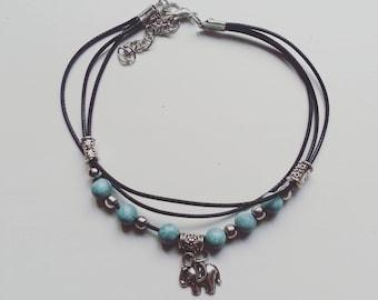 Bohemian Anklet, ankle bracelet, elephant gift, bohemian elephant, yoga jewellery, elephant jewellery, boho gift, bohemian jewellery gift