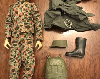 Vintage GI Joe Barbie Doll with Accessories