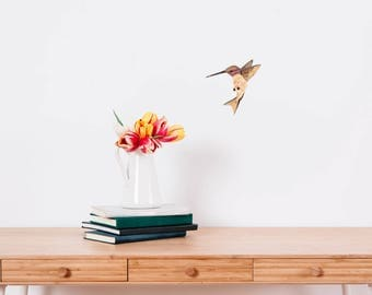 Watercolour Hummingbird Wall Sticker