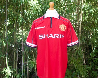 UMBRO X MANCHESTER UNITED Home Shirt 1998-2000 - Size Large