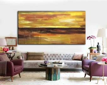 Large Art, Acrylic Large Art, Painting Canvas Art, Canvas Painting, Living  Room