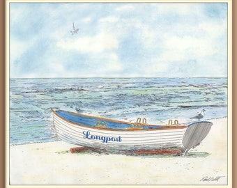 Lifeguard Boat in the Morning in Longport