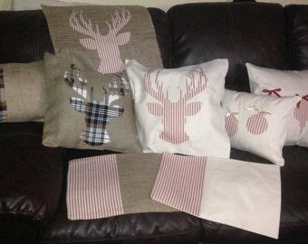 Deer Antler Pillow Cover