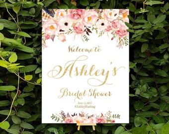 Bridal Shower sign, bridal shower banner, Bridal Shower Welcome Sign, Bridal Shower decorations, bridal shower welcome - US_BSc1