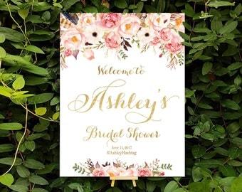 Bridal Shower sign, bridal shower banner, Bridal Shower Welcome Sign, Bridal Shower decorations, bridal shower welcome - US_BSc1