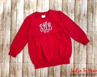Monogrammed bubble sweatshirt, personalized sweatshirt, baby girl, toddler girl, girls birthday gift, valentines outfit, monogrammed, bubble