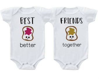 Twin outfits - Twin baby gift - Twin costumes - Twins Halloween costume - Twins baby shower - Twins gifts - Twin baby clothes -  Twin babies