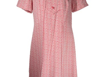 Vintage Handmade Pink Polyester Dress