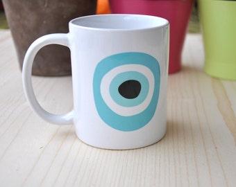 Evil Eye Mug/ Coffee Mug / Funny Coffee Mug / Funny Mugs / Funny Gift / Sarcastic Mug / Coffee Gifts / Lucky Charm