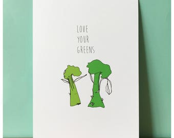 Love Your Greens A4 print