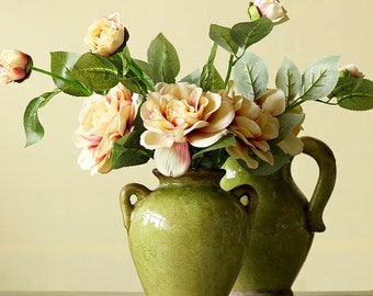 Faux/ Artificial Camellia in American Countryside Vintage Style