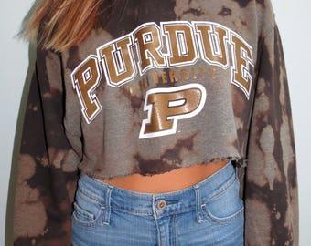 College Cropped Sweatshirt (Purdue University)