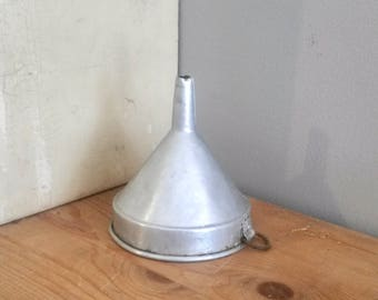 Aluminium Funnel, Wabi Sabi Kitchens, Old Pouring Funnel, French, Vintage Funnel, 1960s