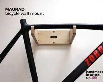 Bike Wall Mount   Bicycle Rack Shelf Holder Furniture Storage Wood Birch Plywood Finish   MAURAD by Huxlo