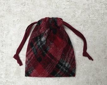 smallbags woolen red and gray - red lining