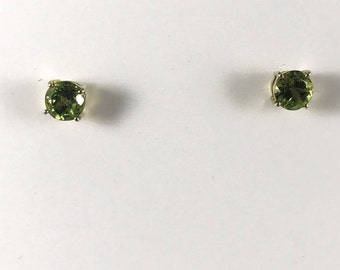 14K yellow Gold Earring Set with Peridot