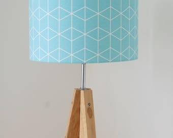 Pastel Blue Cube Lampshade / Ceiling Shade for Gender-Neutral Nursery Room, Children's Room or Playroom