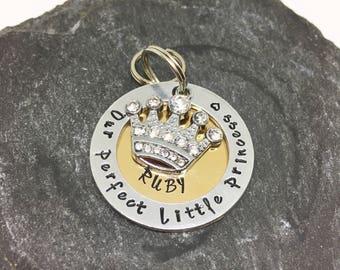 Custom dog tag- Dog collar tag- Dog tags for dogs- Princess dog tag- Our perfect little princess- Pet ID tag- Dog ID- Pet supplies
