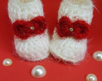 Christmas crochet booties
