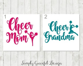 Cheer Mom Decal, Cheer Grandma Decal, Cheerleader Decal, Cheer Mom Gift, Cheer Grandma Gift, Cheer Mom Car Decal, Cheerleader Coach Decal
