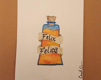 Harry Potter Greeting Card (Felix Felicis)