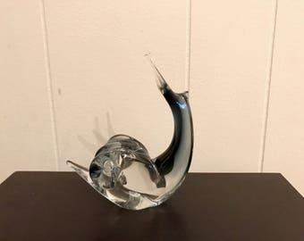 Italian Art Glass Murano Style Snail Figurine
