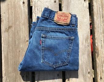 "Levi's 505 27"" Medium Wash High Waist Vintage Jeans"