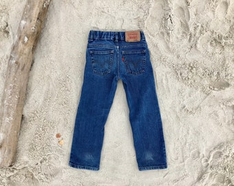 "Levi's 511 Kid's Sz 4 Reg Red Tab Medium Wash 20"" Vintage Jeans"