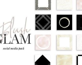 The Blush Glam Social Media Bundle