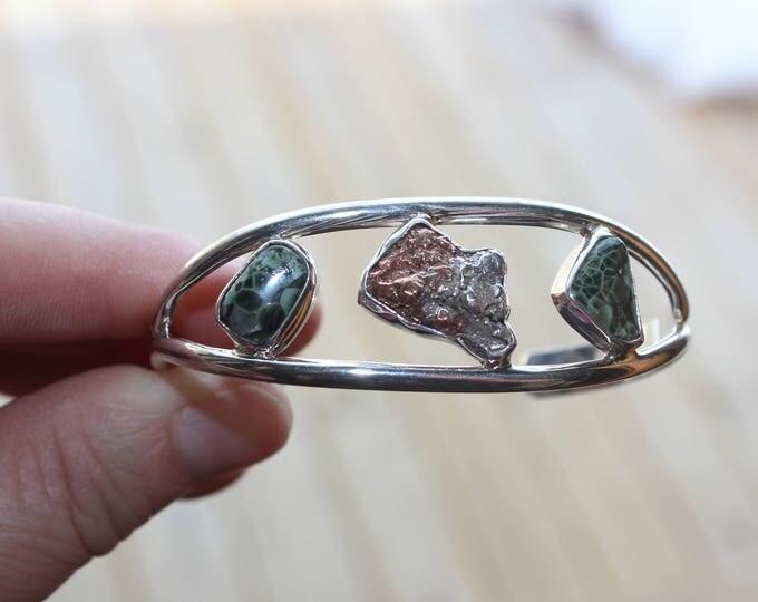 Half Breed, Chlorastrolite (Greenstone) Cuff Bracelet: HBGB-3