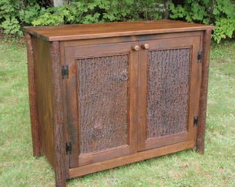 High Quality Rustic Furniture, Lodge Furniture, Custom Rustic Cabinet, Entertainment  Center, Bark Panel Doors