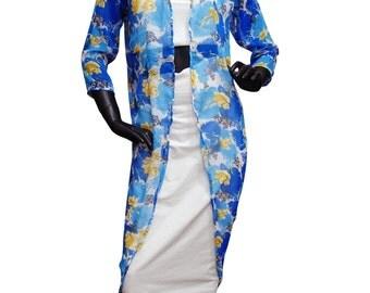 Free Shipping New Women Fashion Printed Shrug Summer Beach Wear Comfortable Caftan Dress Indian Handmade Long Maxi Dress Long Top Shrug PKFT