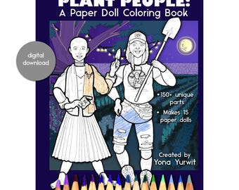 Digital Download - Plant People: A Paper Doll Coloring Book