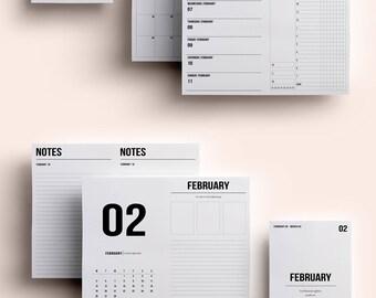 Cahier TN Insert   Cahier TN Printable   Cahier TN Printable Insert   Cahier Insert - February  2018