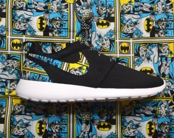 Batman Custom Nike Roshe Run One Shoe Sneaker - Grade School Boys' Girls'  Kids