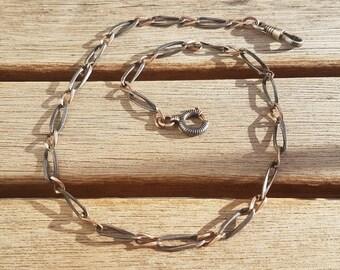 Antique Silver Niello Watch Chain