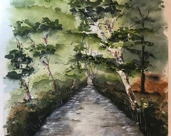 Riverway (Original Watercolor Painting)