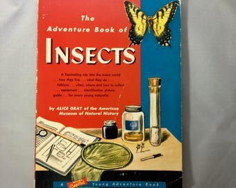 Vintage Insect Book / The Adventure Book of INSECTS/ Vintage Science Book